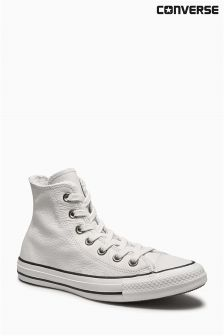 Converse White Fur Leather Chuck Taylor All Star