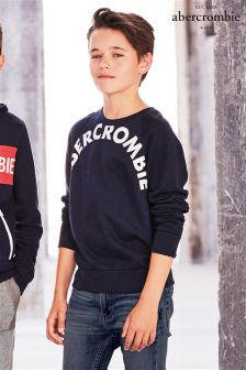 Abercrombie & Fitch Navy Crew Jumper