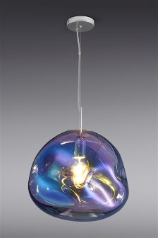 Fluid Iridescent Glass Pendant