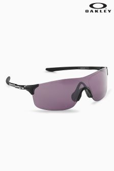 Oakley® Grey Evzero Pitch Rimless Polarized Visor Sunglasses