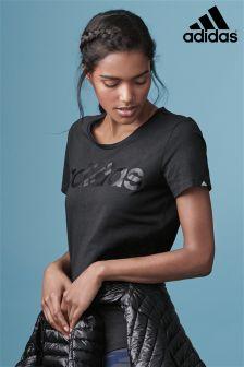 adidas Black Linear Tee