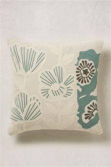 Bold Floral Print Cushion