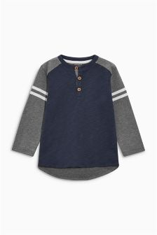 Long Sleeve Grandad Top (3mths-6yrs)