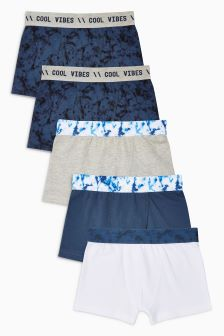 Marble Print Trunks Five Pack (2-16yrs)