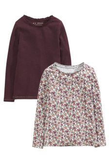 Long Sleeve Rib Tops Two Pack (3-16yrs)