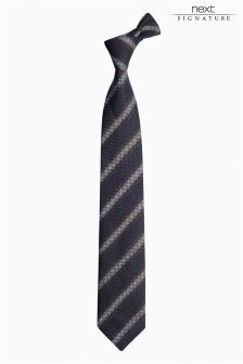 Signature Italian Silk Striped Tie
