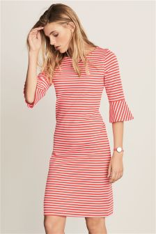 Frill Sleeve Stripe Dress