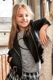 PU Biker Jacket (3-16yrs)