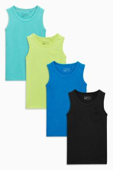 Vests Four Pack (3-16yrs)
