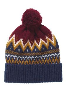 Fairisle Pattern Bobble Beanie