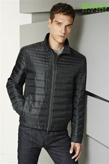 Boss Green Black Jeon Quilted Jacket