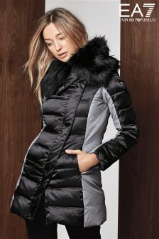 Emporio Armani EA7 Black/Grey Mountain Down Coat