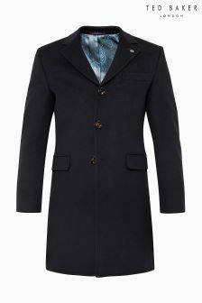 Ted Baker Navy Overcoat