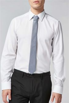 Slim Fit Shirt With Tie
