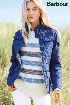 Barbour® Naval Blue Buryhead Quilted Jacket