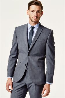 Buy Wool Blend Slim Fit Suits Blue from the Next UK online shop