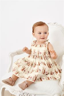 Bunny Print Prom Dress And Knickers (0mths-2yrs)