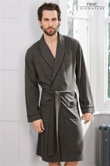 Signature Herringbone Jersey Robe