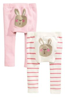 Bunny Tights Two Pack (0mths-2yrs)