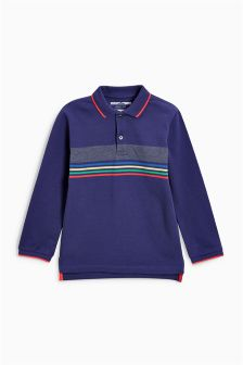 Stripe Long Sleeve Polo (3mths-6yrs)