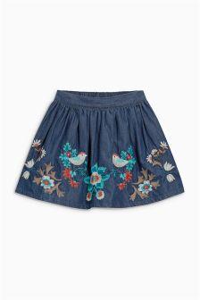 Flower Embroidered Skirt (3mths-6yrs)