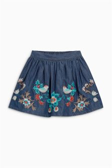 Flower Embroidered Skirt (3mths-6yrs)