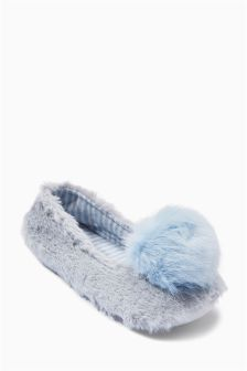 Pom Pom Ballerina Slippers (Older Girls)