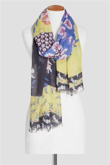 Floral Spliced Scarf