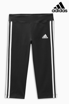 adidas girls. adidas black 3 stripe capri girls t