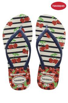 Havaianas® Stripe Cherry Slim Flip Flop