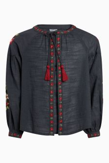 Floral Embroidered Kimono (3-16yrs)