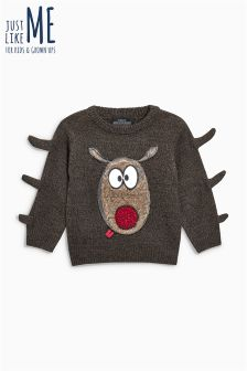 Boys Christmas Rudolph Jumper (3mths-6yrs)