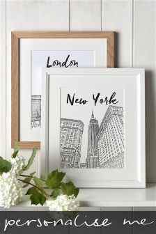 Favourite City Personalised Illustration By Letterfest