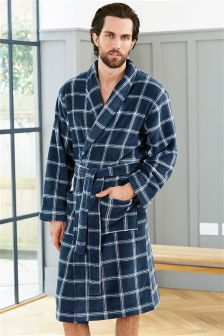 Check Fleece Robe
