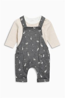 Jersey Dungarees And Bodysuit (0mths-2yrs)