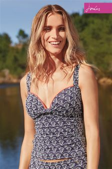 Joules Navy Shell Print Tankini Top