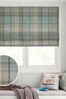 Marlow Woven Check Studio* Roman Blind