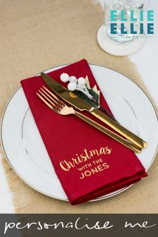 Personalised Family Christmas Napkin By Ellie Ellie