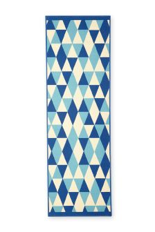 Blue Geometric Runner