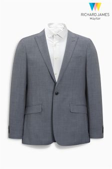 Richard James Mayfair Grey Sharkskin Suit: Jacket