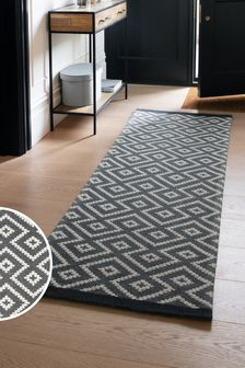 Grey Geometric Runner