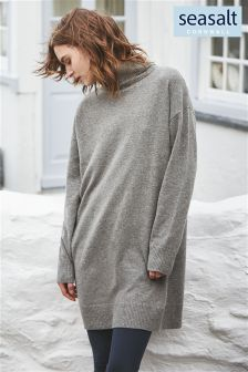 Seasalt Grey Neap Tide Jumper Dress