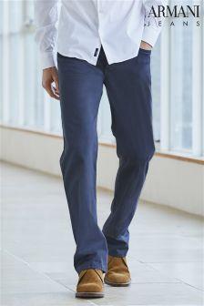 Armani Jeans J21 Navy Straight Fit Five Pocket Trouser