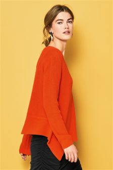 Asymmetric V-Neck Sweater