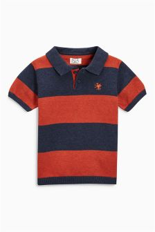 Stripe Knitted Polo (3mths-6yrs)
