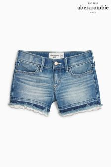 Abercrombie & Fitch Denim Short With Lace Detail