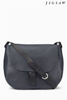 Jigsaw Black Saddle Bag