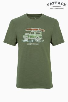Fat Face Khaki Canoe Roofrack Vehicle Graphic Tee