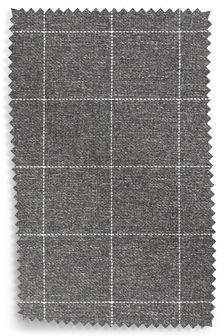 Tweedy Check Lawson Mid Grey Fabric Roll