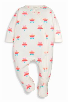 Fluro Star Fleece Sleepsuit (0mths-3yrs)